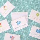 【BlueCat】炫彩蓋印白底迷你小卡片 賀卡