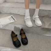 瑪麗珍鞋 網紅瑪麗珍鞋復古2021夏新款英倫風小皮鞋女ins潮日系學院風單鞋 米家