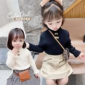 兒童毛衣 女童毛衣套頭春2021新款兒童中高領洋氣針織衫女兒童打底衫【快速出貨八折搶購】