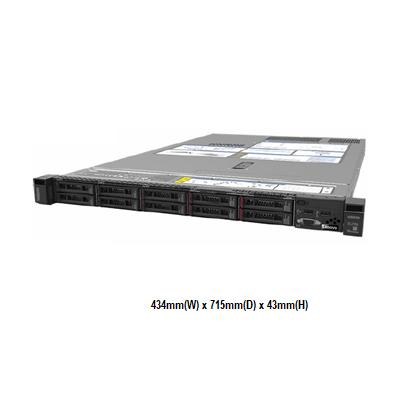 Lenovo SR630 7X02A06ECN 1U機架式伺服器【Intel Xeon Silver 4110 8C / 16GB / Raid 930-8i + 2G Flash】(2.5吋)
