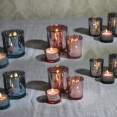 創意玻璃燭台聚會生日蠟燭台酒吧西餐廳蠟燭杯咖啡館燭台擺件