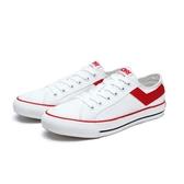 PONY SHOOTER 女 白紅基本帆布鞋-NO.91W1SH02RD