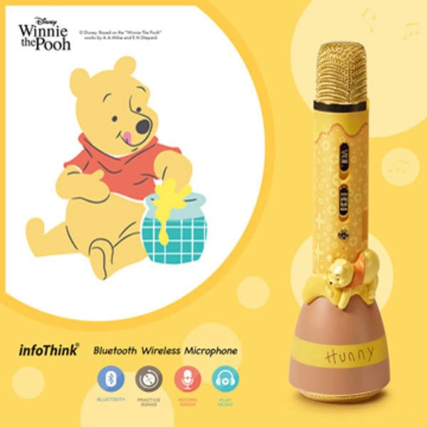 InfoThink 迪士尼無線藍牙麥克風 - 小熊維尼 Winnie 全台第一支迪士尼正式授權的藍牙麥克風