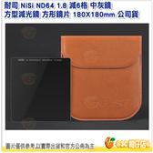 新春指定商品 送清潔擦 耐司 NiSi ND64 1.8 減6格 中灰鏡 方型減光鏡 方形鏡片 180X180mm 公司貨