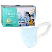 【醫康生活家】永猷立體醫用口罩50入/盒 藍色 (現貨供應) 醫療口罩 大童/小臉成人適用