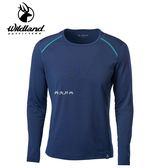 丹大戶外用品 荒野【Wildland】男輕量鍺纖維親膚保暖衣 型號 0A62668-72 深藍色