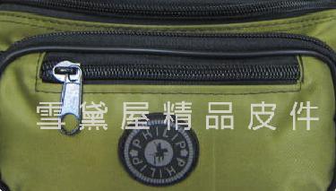 ~雪黛屋~PHILIP 腰包小容量台灣製造隨身物品包運動休閒隨身包防水尼龍布材質防竊盜輕便型#9481