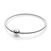 Pandora 潘朵拉丹麥時尚飾品串珠 經典925純銀硬環圓珠釦手鍊手環 部落客 情人 禮物 預購