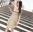 夏装2020新款女装韓版中長款氣質露肩一字領連衣裙/1色/300F6【Brag Na義式精品】