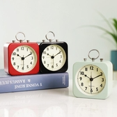創意小鬧鐘座鐘學生用宿舍床頭靜音桌面鐘錶擺件簡約便攜鬧鈴時鐘春季新品