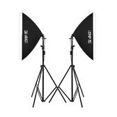LED小型攝影棚攝影燈套裝補光燈拍攝拍照燈常亮柔光燈箱簡易道具 台北日光