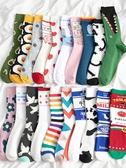 襪子女中筒ins潮夏季網紅薄款夏天長筒襪男全棉可愛日繫長襪 韓國時尚週