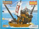COGO積高積木 3115 海盜船積木 可與樂高混拼(中) 約168片/一盒入{促350}~CF111303