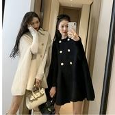 斗篷外套女秋冬英倫風呢子大衣女2020新款百搭披肩上衣女韓版寬鬆