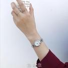 ins風銀色手鏈式手錶女鏈條細帶小巧精致女士簡約氣質學生小錶盤 [現貨快出]