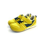 日本月星 MOONSTAR 魔鬼氈 撞色 透氣機能學步鞋 《7+1童鞋》C401 黃色