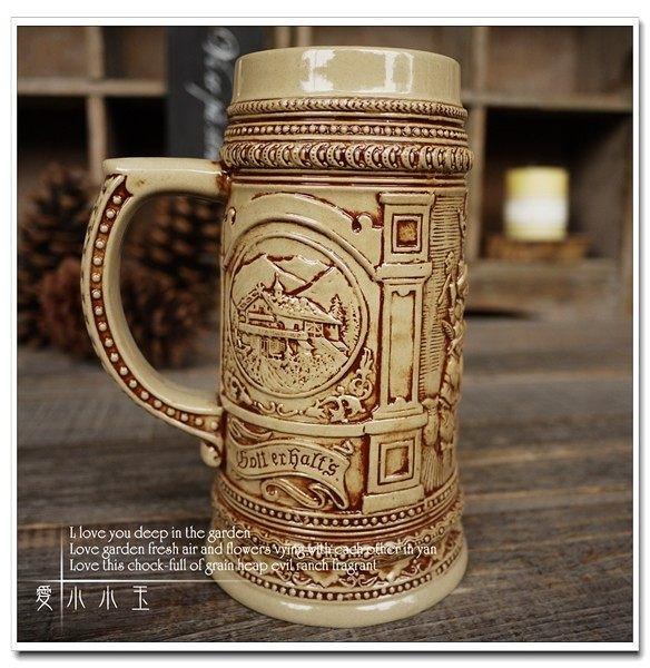 【幸福的一家】陶瓷德國啤酒杯創意