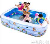 嬰兒童游泳池充氣家庭嬰兒成人家用海洋球池加厚超大號戲水池非凡小鋪