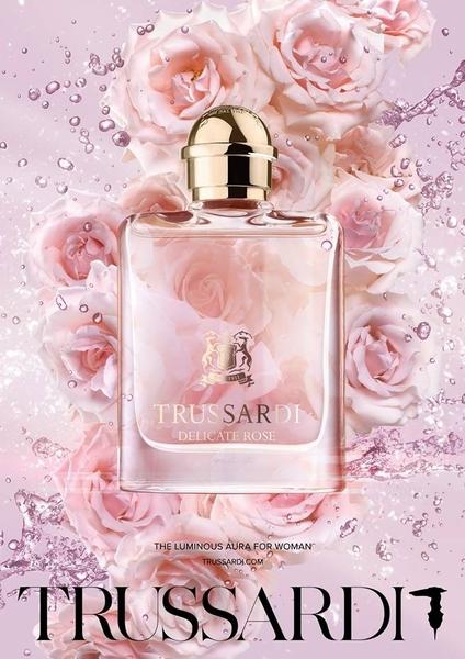 岡山戀香水~TRUSSARDI Delicate Rose 玫瑰 女性淡香水 50ml~優惠價:1610元