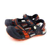 GP (Gold.Pigon) 阿亮代言 涼鞋 護趾 前包式 防水 雨天 女鞋 藍/橘 G7668W-42 no853