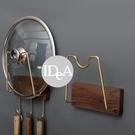 IDEA 胡桃木鍋蓋架 湯匙架 廚房配件 收納 居家生活 餐廳 免打孔 鍋蓋架 黃銅
