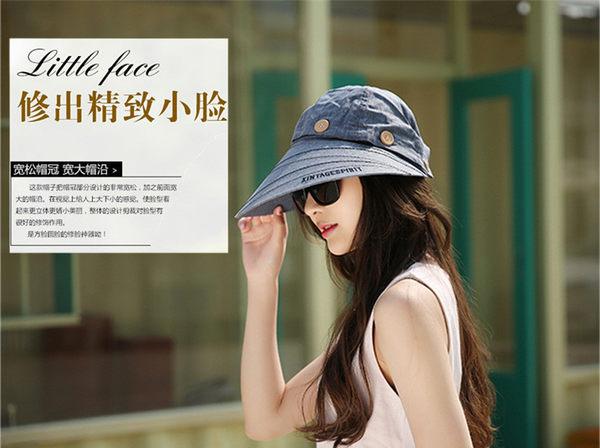 夏季遮陽帽 女士空頂透氣防曬大檐帽 可拆卸布帽 戶外防紫外線帽
