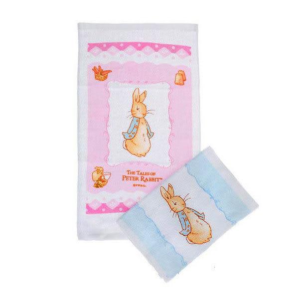 【奇買親子購物網】奇哥Peter_Rabbit/彼得兔印花毛巾(藍色/粉紅)