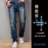 【專櫃新品】機能係波浪袋花中腰直筒褲(淺藍刷白)  - BLUE WAY 鬼洗い
