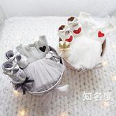禮盒套裝 嬰兒禮盒套裝公主裙衣服新生兒用品送禮剛出生寶寶滿月服T 3色