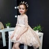 兒童禮服公主裙走秀花童鋼琴演出服女童婚紗裙拖尾主持人晚禮服夏兒童洋裝