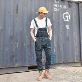 全館83折 吊帶褲 原創街頭潮流背帶褲 修身牛仔褲男 日系長褲