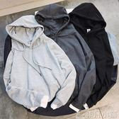 衛衣 男士春秋季T恤韓版套頭衛衣BF風假兩件連帽衫學生潮流寬鬆外套冬    非凡小鋪