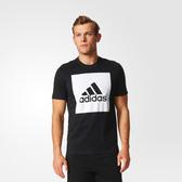 Adidas ESS BIGLOGO TEE [S98724] 男 圓領 短袖 運動 休閒 舒適 棉T 愛迪達 黑