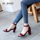 IN'SHOP涼鞋-焦點奢華瑪莉珍高跟氣質涼鞋-共2色【KF00877】