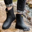 男雨鞋中筒防滑防水鞋工作時尚短筒雨靴膠鞋男士套鞋CY『新佰數位屋』