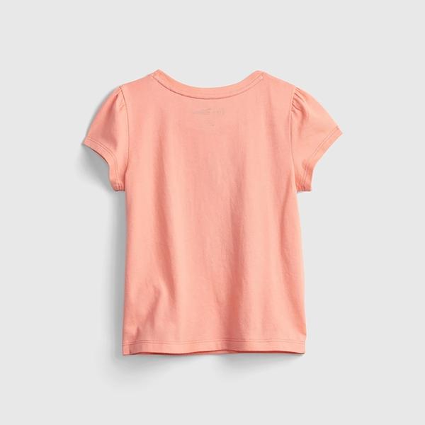 Gap女幼童 Gap x Disney 迪士尼系列純棉T恤 689343-橘粉色