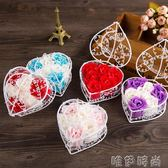 香皂花 6朵鐵籃玫瑰香皂花禮盒創意活動婚慶定制小禮品 唯伊時尚