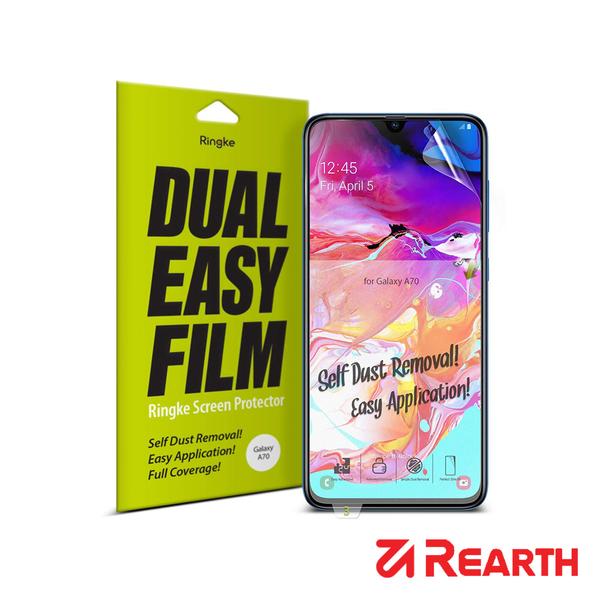 Rearth 三星 Galaxy A70 滿版抗衝擊螢幕保護貼(兩片裝)