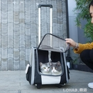 兩用貓包拉桿雙肩包貓包外出便攜貓背包貓咪外出包透氣寵物拉桿箱 樂活生活館