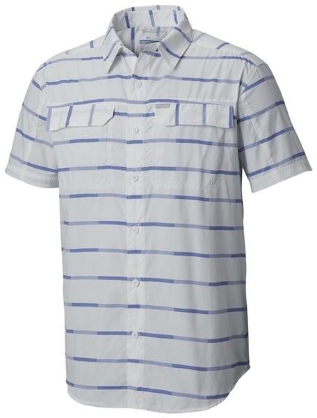 【Columbia】男UPF35快排短袖襯衫-白