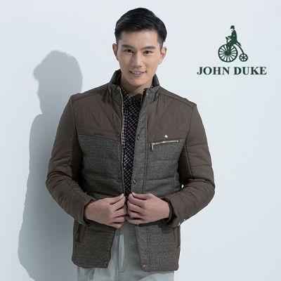 JOHN DUKE  英式風采立領鋪棉外套(咖啡)