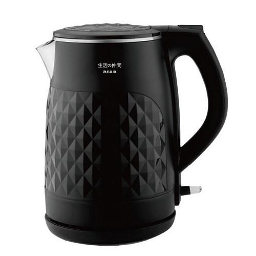 【福利品】aiwa 雙層防燙不鏽鋼快煮壺1.5L DKS110118