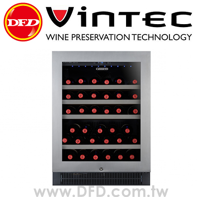 法國 VINTEC V40SGES3 單門單溫酒櫃 Seamless Stainless Steel 公司貨 約裝40支 丹麥研發設計