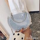 果凍包夏天夏季透明小包包女新款潮網紅時尚百搭學生鍊條斜背果凍包【凱斯盾】