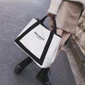 大包包2018新款女包歐美時尚帆布包潮字母單肩包大容量斜挎手提包   夢曼森居家