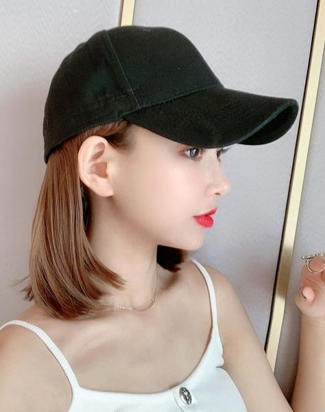 假髮 帽子一體時尚短髮女夏天波波頭網紅圓臉bobo全頭套式 - 歐美韓
