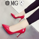 MG 高跟鞋-新款白色尖頭高跟鞋細跟淺口cm性感百搭女單鞋夜店情趣鞋潮