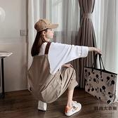 背帶褲女韓版寬鬆可愛日系小個子時尚夏秋【時尚大衣櫥】