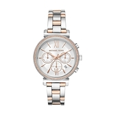 【Michael Kors】美式璀燦雙色水鑽時尚腕錶-撞色款/MK6558/台灣總代理公司貨享兩年保固