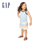Gap 男幼童 柔軟舒適圓領無袖上衣 545085-淺藍色